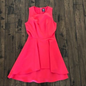Raspberry A-Line dress by Vince Camuto